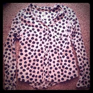 Button down blue raspberry shirt! Very quirky